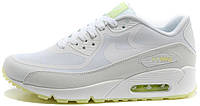Женские кроссовки Nike Air Max 90 White (найк аир макс 90) белые светящиеся в темноте