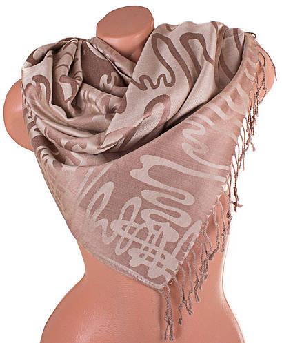 Двусторонний стильный женский палантин из пашмины 174 на 70 см ETERNO (ЭТЕРНО) ES0406-9-11 бежевый