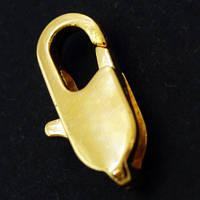Застежка Карабин-Лобстер Металл, Цвет: Золото, Размер: 10.5х5.5мм, (УТ000007395)