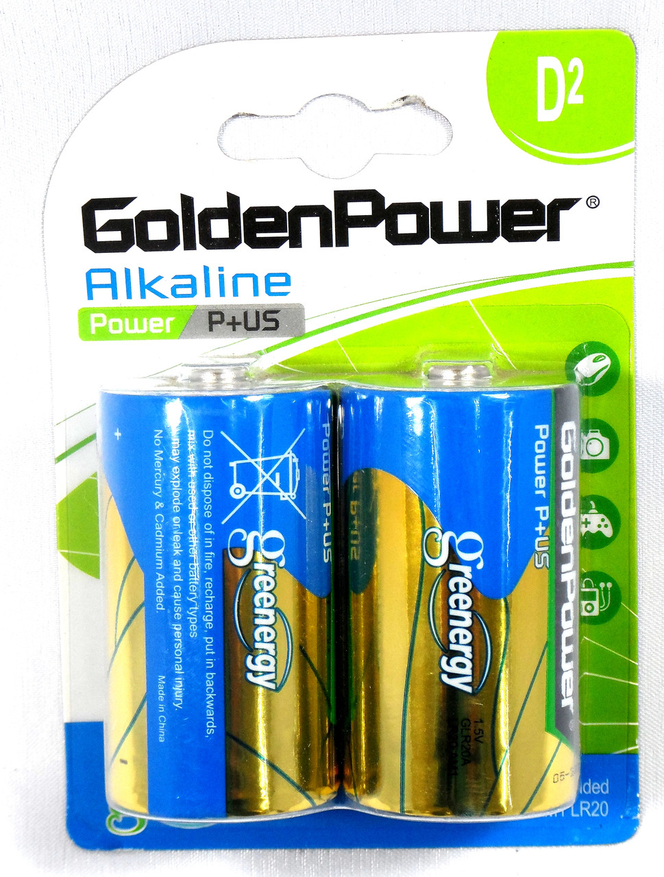 Батарейка GoldenPower LR20 1.5V Alkaline