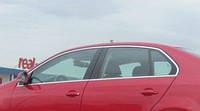 Верхняя окантовка стёкол Volkswagen Jetta (2011+) 6 шт.