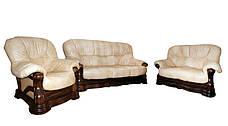 Класичне шкіряне крісло Senator (120 см), фото 3