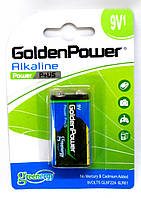 Батарейка GoldenPower Alkaline P+US GL6F22 6LR61 9V Krona