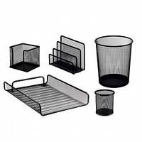 Набор настольный Buromax металлический 5 предметов черный (BM.6706-01)