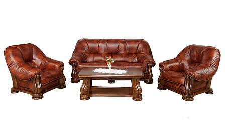 Кожаное кресло в классическом стиле SANREMO (110 см), фото 2