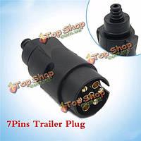 Tirol 7pins разъем проводки прицепа плагин пластиковые 7pole 12v Фаркоп буксировки плагин черный