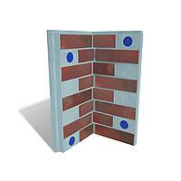 Клинкерные термопанели PARADYZCLOUD BROWN (внутренний угол)