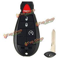 4 кнопки перевернуть дистанционного брелока оболочки случай пустой диск для Chrysler увернуться джип