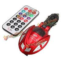 Автомобильный MP3 плеер FM модулятор передатчика беспроводной ЖК-автомобильный комплект USB TF SD дистанционного управления
