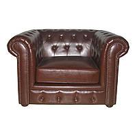 Стильное кожаное кресло Chesterfield HUP (115 см)