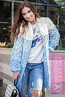 Кофта Коса білий/меланж/блакитний 20 кольорів! , фото 1