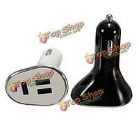 Мини Универсальный USB Автомобильное зарядное устройство адаптер с LED Световой индикатор 3 порта 2.4а 1.5а