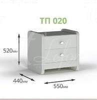 Деревянная прикроватная тумба ТП 020
