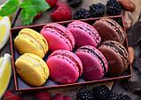 """Суміш для печива """"Макаронів"""" - БЕЗ ГЛЮТЕНУ, 300 г, яскраво-рожева, фото 2"""