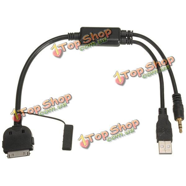 Aux к аудио USB соединяют y кабельное лидерство адаптера для BMW iPhone Mini Купера iPod - ➊TopShop ➠ Товары из Китая с бесплатной доставкой в Украину! в Киеве