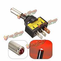 12v 20А автомобиль автомобиль авто красный LED Свет переключить тумблер 3pin SPST вкл/выкл