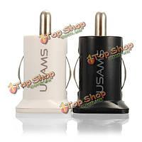 Мини-двойной USB автомобильное зарядное устройство адаптер с USB-кабель для мобильного телефона