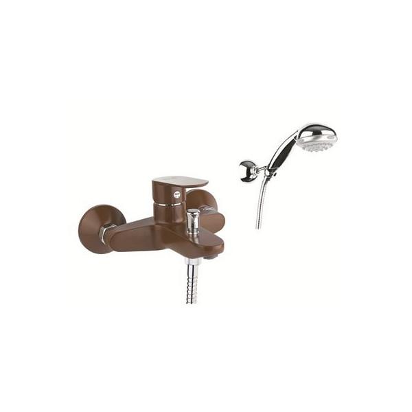 Смеситель KEVON MX для ванны с душ/г,81CH8150 chocolate