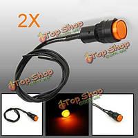 2X10мм универсальный LED индикатор панели приборов контрольная лампа светильник