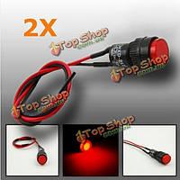2шт 10мм универсальный LED индикатор панели приборов контрольная лампа светильник