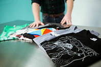Изготовление футболок с логотипом и рисунками, футболки оптом, футболки под нанесение., фото 1