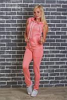 Костюм женский желетка+штаны персик