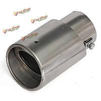 Хром нержавеющая сталь круглый наклонены наконечник выхлопной трубы muffer для универсальных автомобилей
