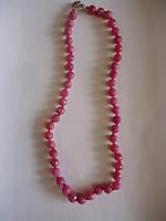 Турмалин розовый граненный круглый  Бусы d=8мм