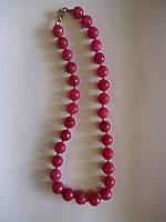 Турмалин розовый граненный круглый  Бусы d=12мм