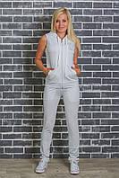 Костюм женский желетка+штаны белый