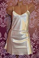 Атласный халат с пеньюаром, комплект двойка
