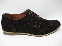 Коричневые замшевые мужские туфли ТМ ТОР HOLE
