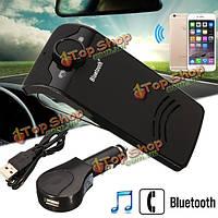 Автомобиль руки бесплатный беспроводной Bluetooth 3.0 динамик mp3-плеер Солнцезащитный козырек клип