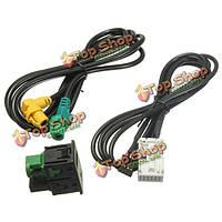 USB aux переключает кабель для гольфа rcd510 310 300 rns315 vw passat b6 b7 cc mk6 jetta