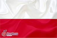 Флаг Польши 80*120 см., искуственный шелк