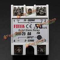 Твердотельные реле SSR-25da 3-32в 25А/250V выход 24-380vac частоты ж/ крышка