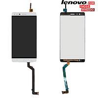 Дисплейный модуль (дисплей + сенсор) для Lenovo Vibe K5 Note A7020, белый, оригинал