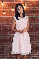 Платье пышное нарядное цвет пудра