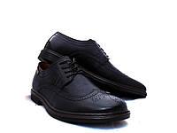 Туфли мужские Броги стильные черные, фото 1