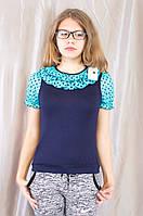 Модная нарядная летняя блуза на девочку трикотаж, шифон.