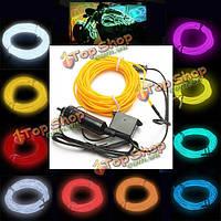 3м-Эль-неоновый световой эффект световой кабель шнур провод 12В инвертор