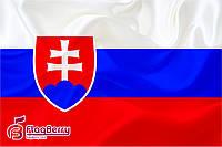Флаг Словакии  80*120 см., искуственный шелк