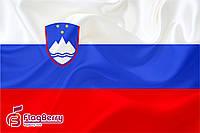 Флаг Словении  80*120 см., искуственный шелк