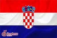Флаг Хорватии 80*120 см., искуственный шелк
