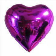 Фольгированное сердце без рисунка, фиолетовое