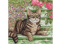 """Набор для вышивания """"Кот на скамейке (Cat On Bench)"""" ANCHOR (снят с производства)"""