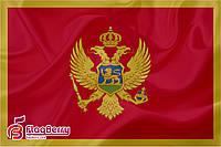 Флаг Черногории 80*120 см., искуственный шелк