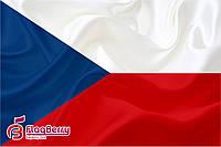Флаг Чехии 80*120 см., искуственный шелк