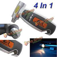 4в1  ЖК-цифровой шины безопасности манометр haммer фонарик и нож для автомобиля грузовик мотоцикла