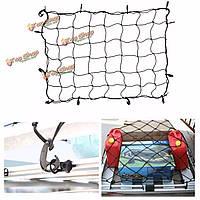 12 крюк универсальный автомобиль для хранения багажник грузового багажа эластичная сетка сетка держатель 120x90см